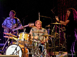 On stage with George Porter Jr. and Pete Lavezolli